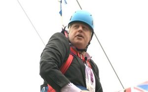Boris Johnson abseiling